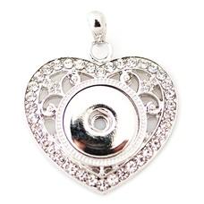 Clicks Sieraden Clicks hanger crystal heart zilver