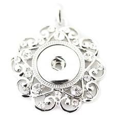 Clicks Sieraden Clicks hanger star crystal zilver