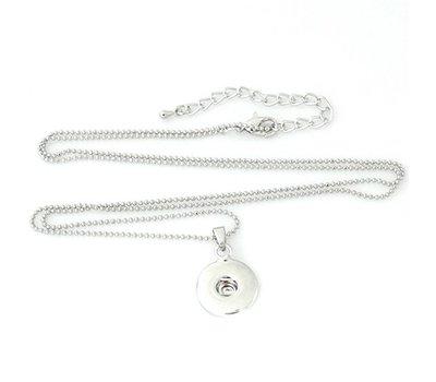 Clicks Sieraden Clicks hanger rond inclusief lange ketting zilver