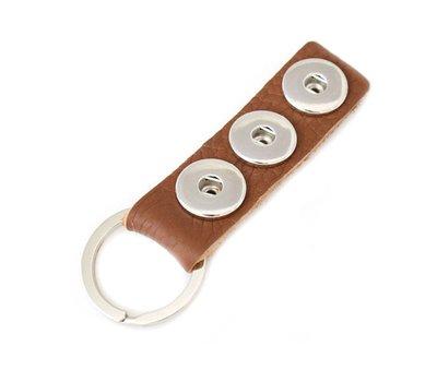 Clicks Sieraden Clicks sleutelhanger nubuck leer bruin lang