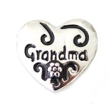 Clicks en Chunks | Click hartje grandma zilver
