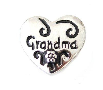 Clicks en Chunks   Click hartje grandma zilver
