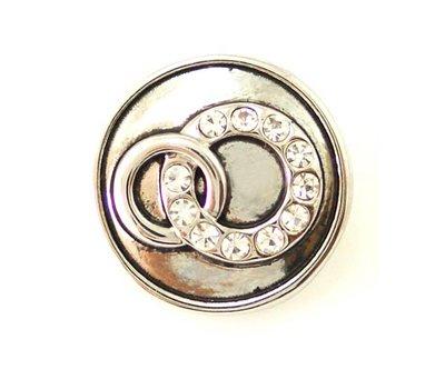 Clicks / Chunks Click trouwringen met strass zilver