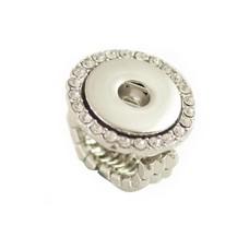 Clicks Sieraden Clicks flexibele ring met strass zilver