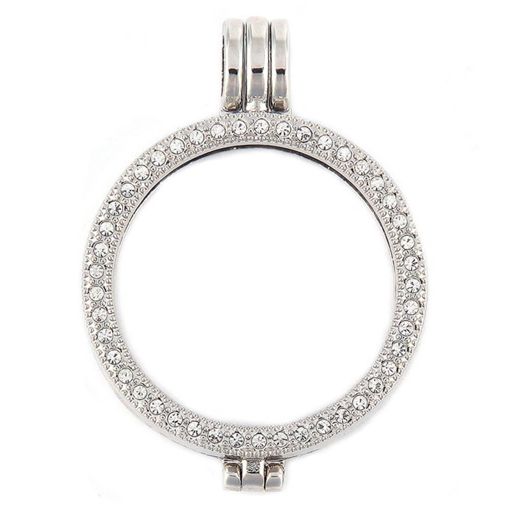 Hanger voor Muntketting Zilver volledig Strass - Shoppe