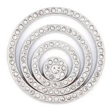 Munt voor Muntketting Crystal Cirkels Zilver