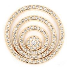 Munt voor Muntketting Crystal Cirkels goud