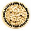 Munt voor Muntketting Indian vintage zwarte crystals goud