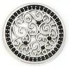 Munt voor Muntketting Indian vintage zwarte crystals zilver