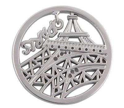 Munt voor Muntketting Eiffeltoren zilver
