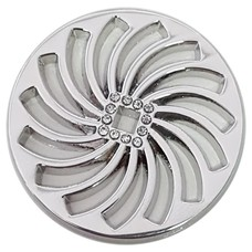 Munt voor Muntketting Twister zilver