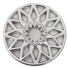 Munt voor Muntketting Zon met crystals zilver