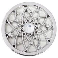 Munt voor Muntketting Dromenvanger wit zilver