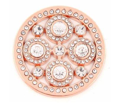 Munt voor Muntketting Universe crystals rose goud