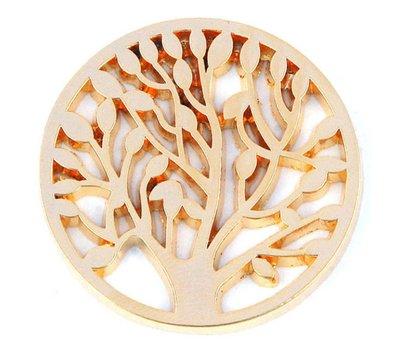 Munt voor Muntketting Levensboom goud