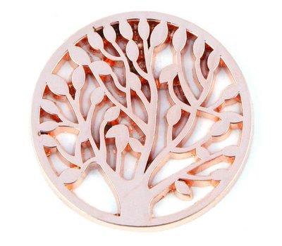 Munt voor Muntketting Levensboom rose goud