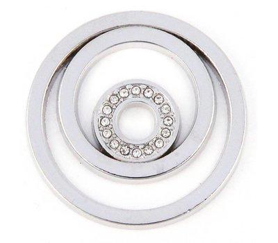 Munt voor Muntketting Circles zilver