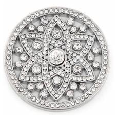 Munt voor Muntketting Famous crystals zilver