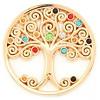 Munt voor Muntketting Levensboom multi color crystals goud