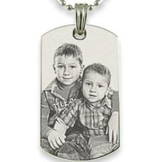 Graveer Sieraad Foto en of tekst graveren op foto hanger dogtag zilver inclusief ketting