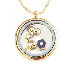 Moederdag cadeau Memory locket Ketting Kids en Husband