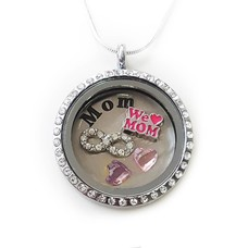 Moederdag cadeau Memory locket Ketting We Love mom
