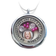 Moederdag cadeau Memory locket ketting Grandmothers
