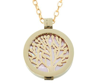 Complete Muntketting Pink Pearl Family Tree Goud