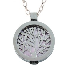 Complete Muntketting Pink Pearl Family Tree Zilver