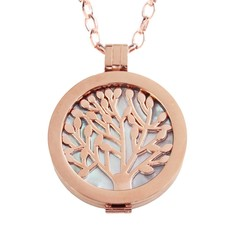 Complete Muntketting Blue Pearl Family Tree Rose Goud