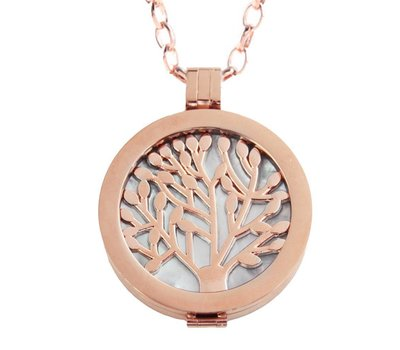 Complete Muntketting Pearl Family Tree rose goud