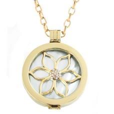 Complete Muntketting Pearl Flower goud