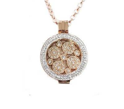 Complete Muntketting Universe smal rose goud