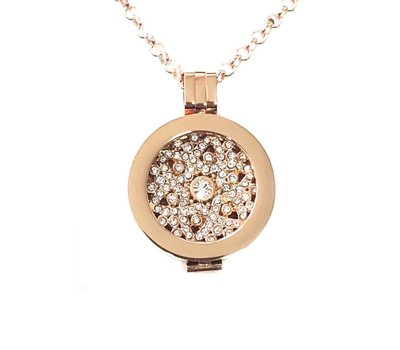 Complete Muntketting A little star smal rose goud