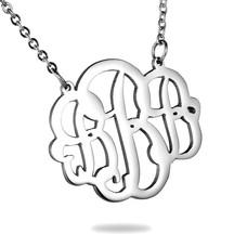 Initials Monogram Ketting Letter B Zilver van Roestvrij staal