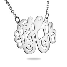 Ketting met letter Monogram Ketting Letter H Zilver van Roestvrij staal