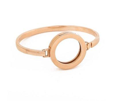 Armband voor munten Armband Rose goud smal van Roestvrij Staal