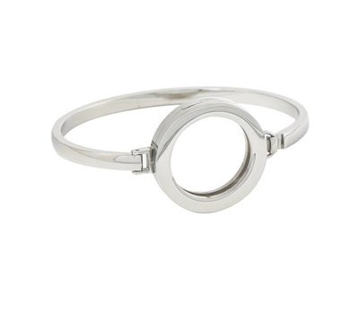 Armband voor munten Armband Zilver smal van Roestvrij Staal
