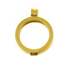 Hanger voor Muntketting Goud smal van Roestvrij Staal