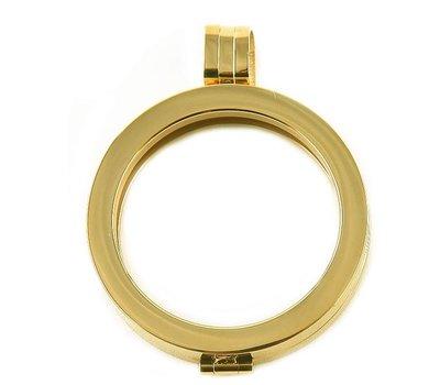 Hanger voor Muntketting Goud van Roestvrij Staal
