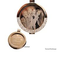 Munt voor Muntketting Graveer munt smal rose goud van roestvrij staal