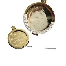 Munt voor Muntketting Graveer munt smal goud van roestvrij staal