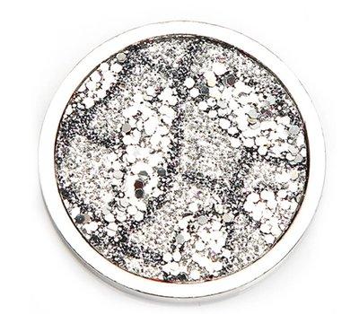 Munt voor Muntketting Wild life grijs zilver