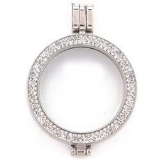 Hanger voor Muntketting Zilver sparkling Strass