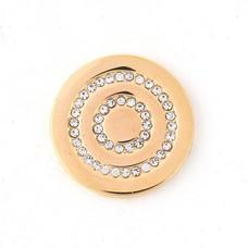 Munt voor Muntketting Round in round smal goud
