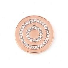 Munt voor Muntketting Round in round smal rose goud