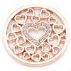 Munt voor Muntketting Love hearts rose goud