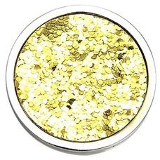 Munt voor Muntketting Glitter goud zilver