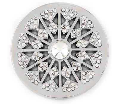 Munt voor Muntketting Star big crystal zilver