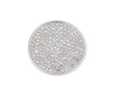 Munt voor Muntketting Full crystals smal zilver